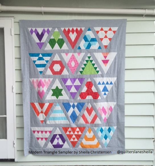 Modern Triangle Sampler Sheila Christensen 2016