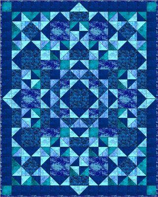 Blue Hawaiian Quilt